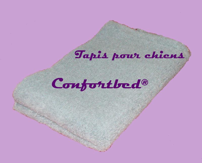 tapis confortbed vetbed éleveur gris clair uni 100x150 cm 26 mm