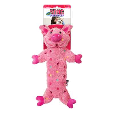 jouet stimulant kong low stuff speckles grand cochon pour chien