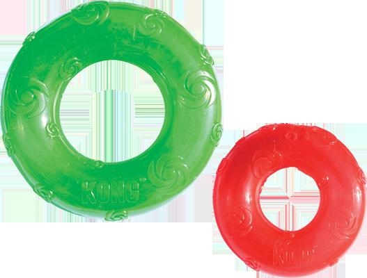 jouet à lancer kong squeezz ring L 15 cm pour chien