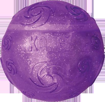 jouet balle kong squeezz crackle ball pour chien