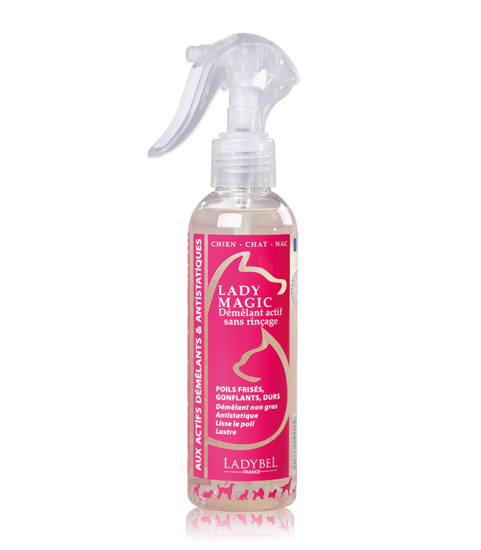 conditionneur non gras anti statique spray de coiffage lady magic 1litre