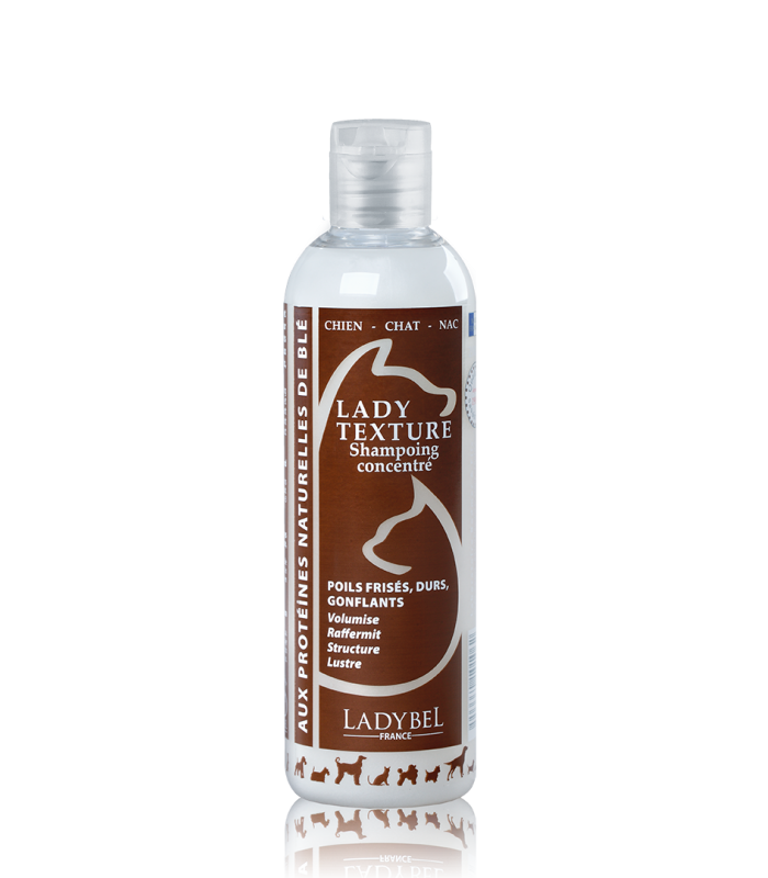 shampoing structurant pour chien chat lady texture 200 ml ladybel