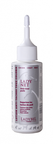 gel detachant anti taches rousses pour chien lady net ladybel 100ml