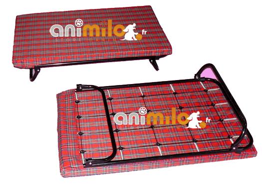 Lit transat 90 cm x 60 cm couchage sur matelas et sommier ressort pour chien - Quel sommier pour matelas ressort ...