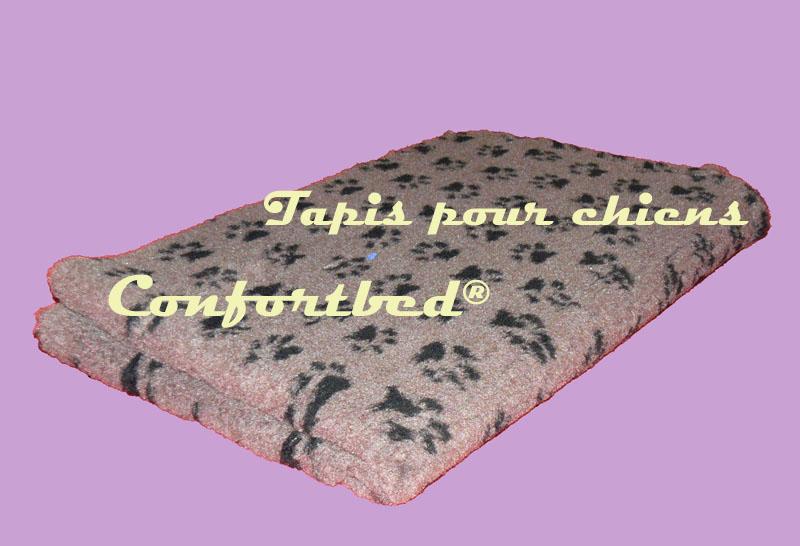 Tapis Confortbed Vetbed Dry vison pattes noires 100x150 cm 26 mm