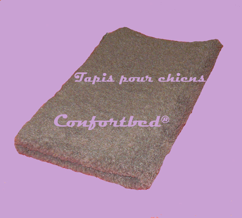 tapis confortbed vetbed éleveur marron uni 32 mm 50x75 cm