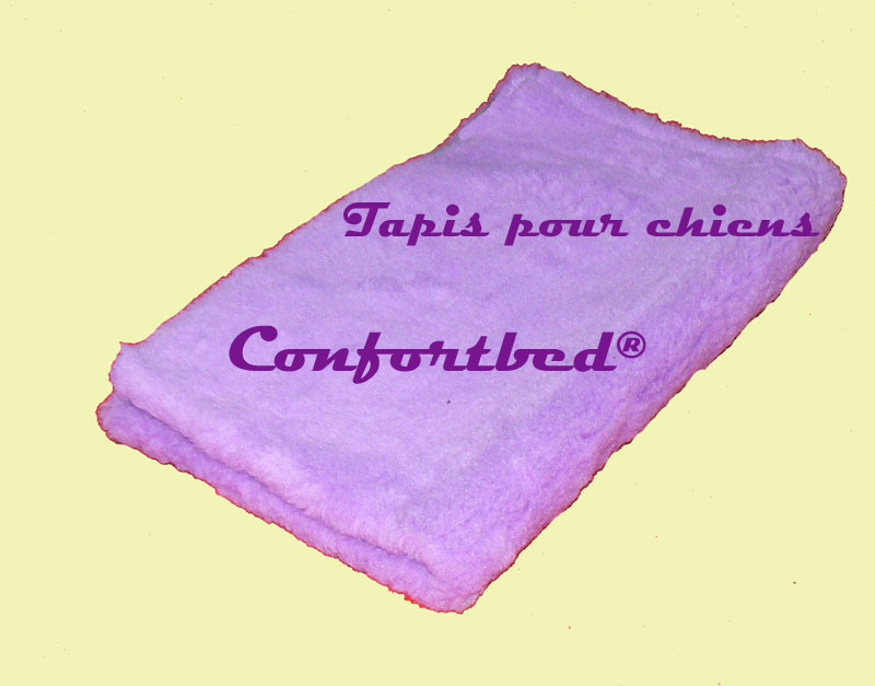 tapis confortbed vetbed éleveur mauve uni 50x75 cm 26 mm