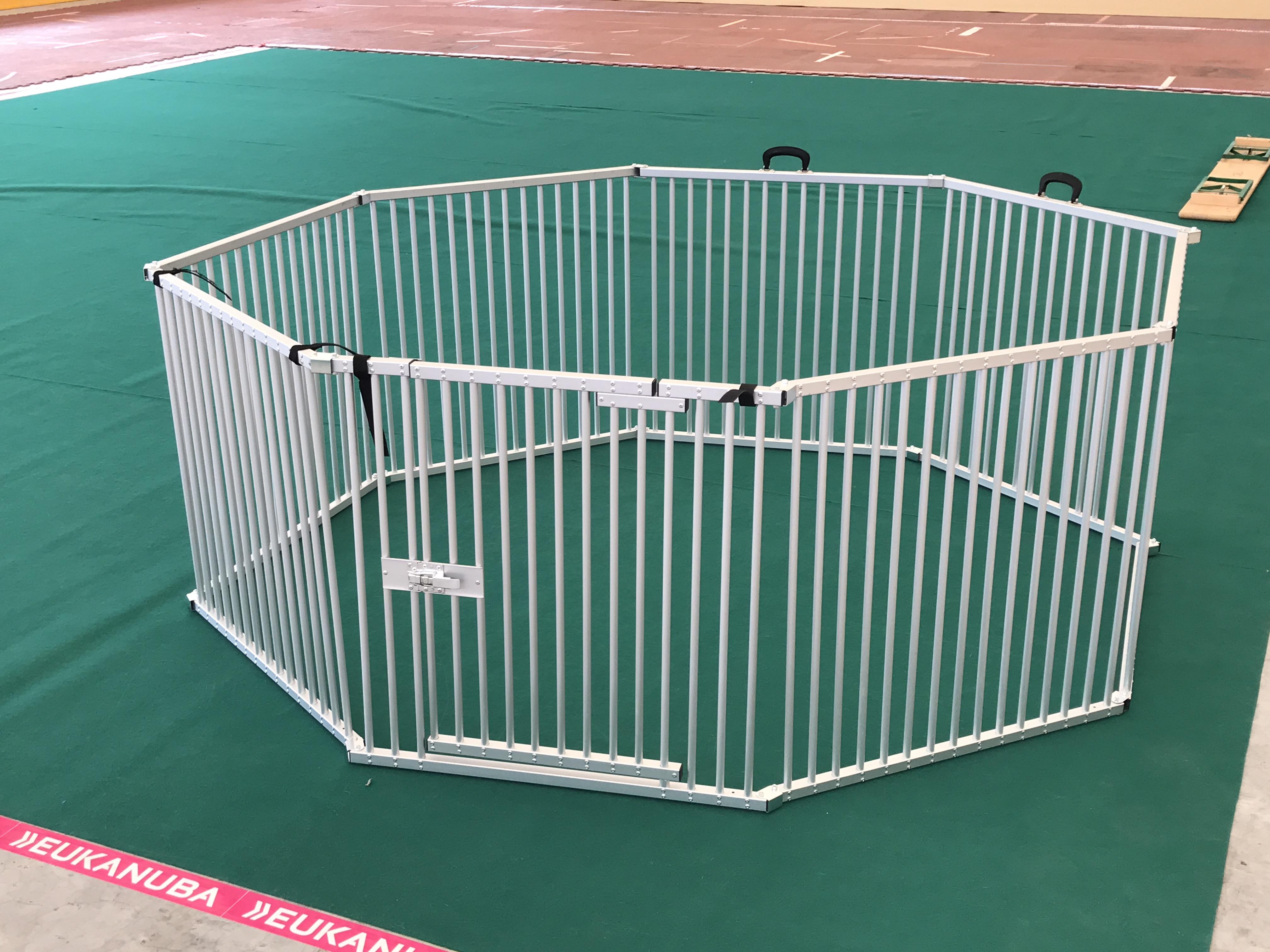 parc à chiots alu pour petites races de chien 8x80x80 cm