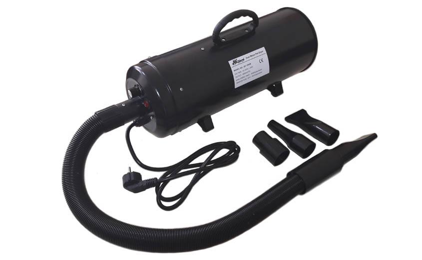 pulseur séchoir noir portable 3800W toilettage du chien