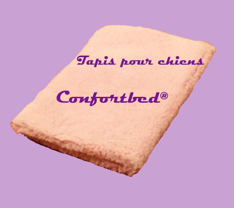 tapis confortbed vetbed éleveur rose uni 100x150 cm 26 mm