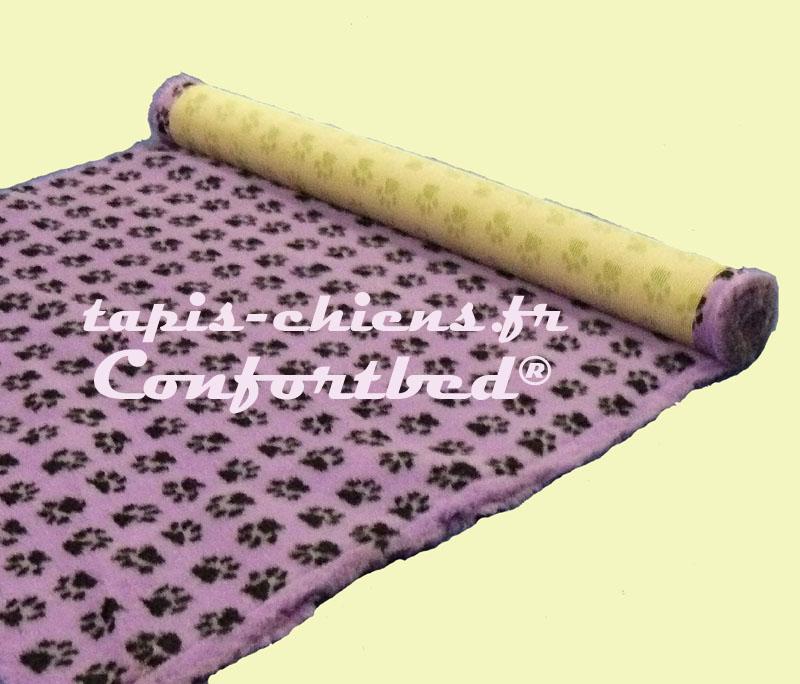 tapis confortbed vetbed dry anti-dérapant mauve pattes noires 26 mm à la coupe