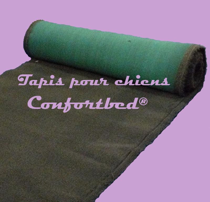 Tapis Confortbed Vetbed Eleveur antracite uni, épaisseur 26 mm,longueur selon commande