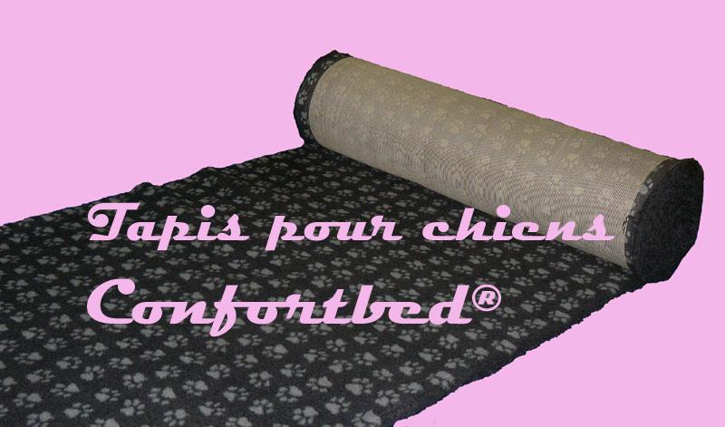 tapis confortbed vetbed dry anti-dérapant anthracite pattes grises 26 mm à la coupe
