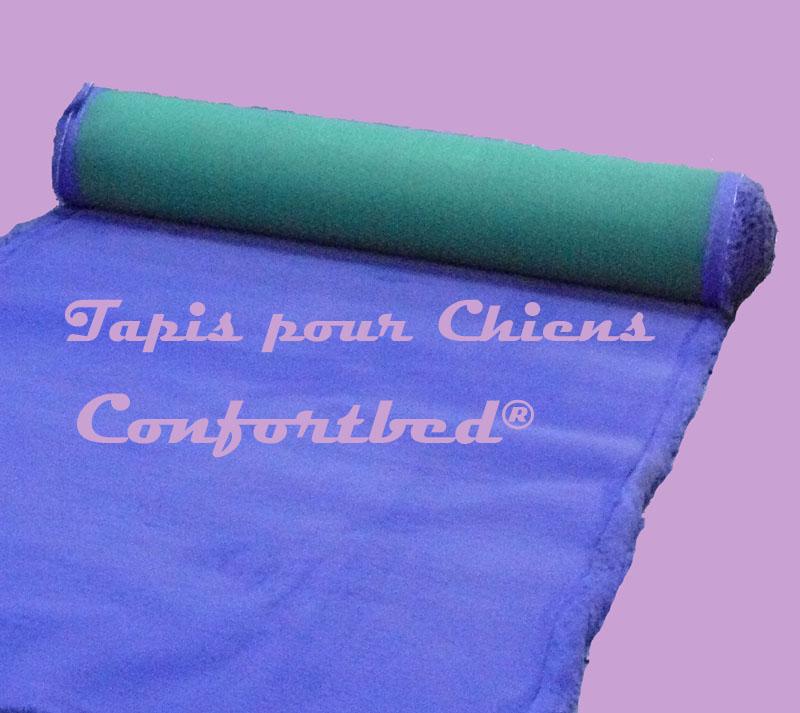 tapis confortbed vetbed éleveur bleu uni 26 mm à la coupe