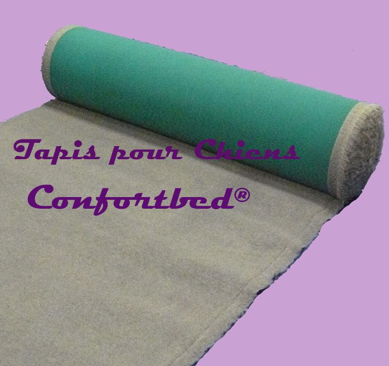 tapis confortbed vetbed éleveur gris uni 26 mm à la coupe