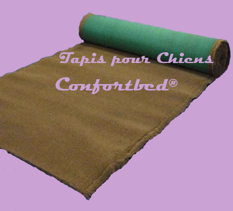 tapis confortbed vetbed éleveur marron uni 26 mm à la coupe