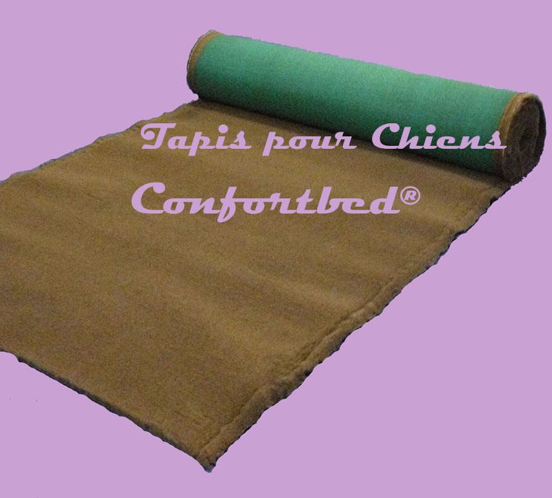 tapis confortbed vetbed éleveur marron uni 32 mm à la coupe