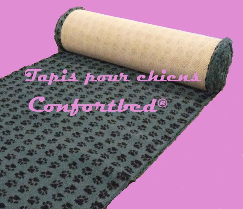 tapis confortbed vetbed dry anti-dérapant vert clair pattes noires 26 mm à la coupe