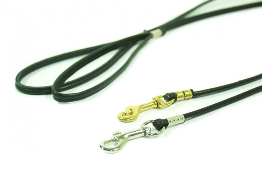 laisse extra fine cuir rond pour les colliers de présentation canine