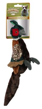 jouet peluche faisan pour chien Pawise