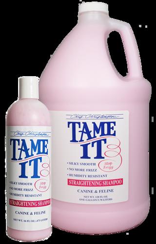 shampoing réparateur pour chien Chris Christensen Tame It 16 Oz