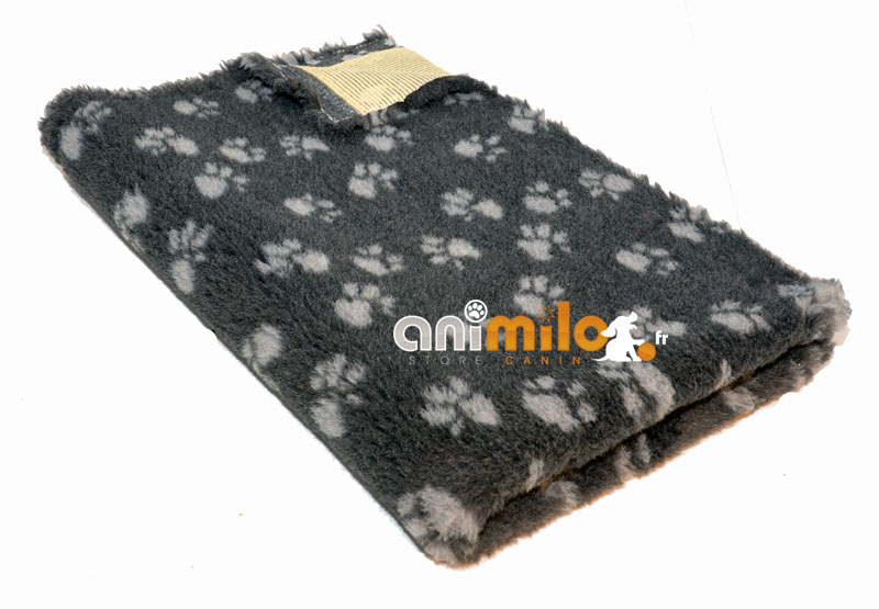 tapis confortbed vetbed standard anthracite pattes grises 75x100 cm 20 mm
