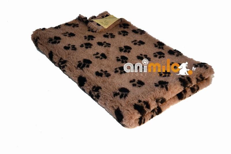 tapis confortbed vetbed standard vison pattes noires 50x75 cm 20 mm