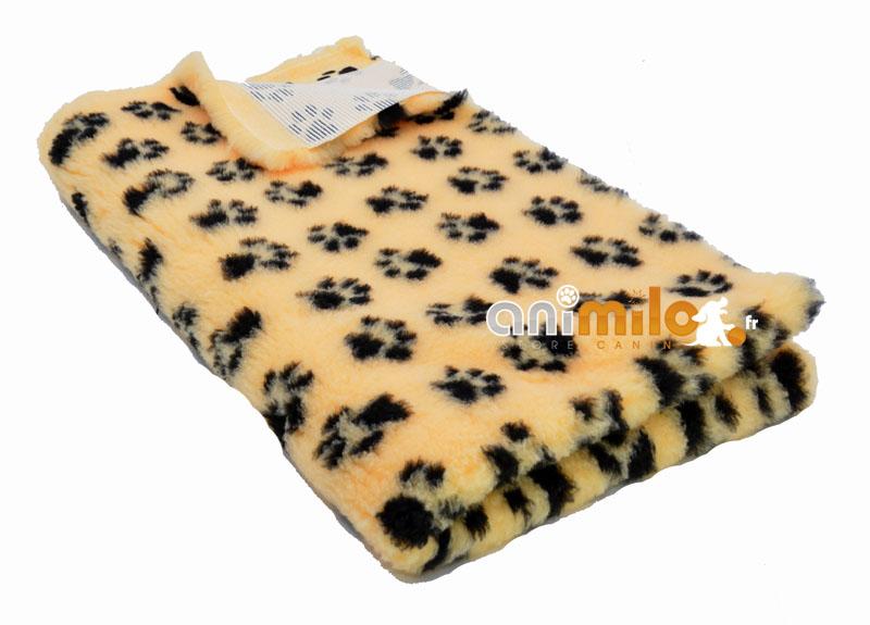 tapis confortbed vetbed dry anti-dérapant jaune pattes noires 100x150cm 26 mm