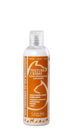 après shampoing démêlant structurant volumisant texture crème ladybel 200 ml pour chien