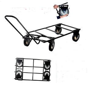trolley chariot costaud tout terrain 112cm x 70cm roues pliables transport de cage pour chien. Black Bedroom Furniture Sets. Home Design Ideas