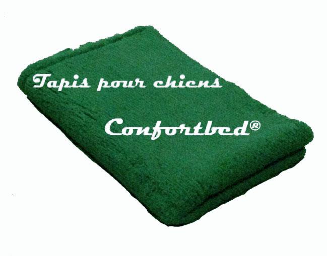 tapis confortbed vetbed éleveur vert uni 50x75 cm 26 mm