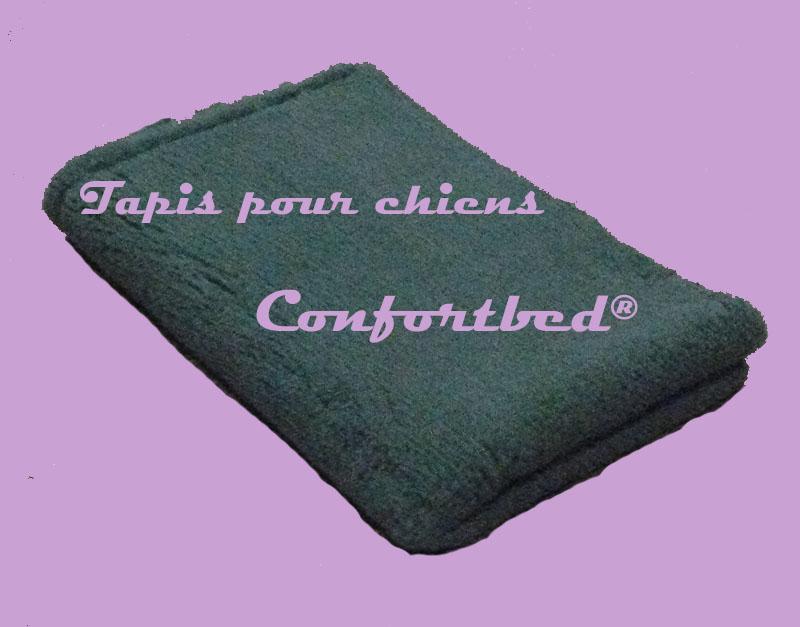 tapis confortbed vetbed éleveur vert uni 75x100 cm 26 mm