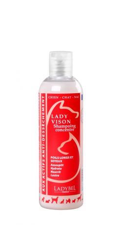 shampoing concentré démelant à l'huile de vison lady vison 1 litre